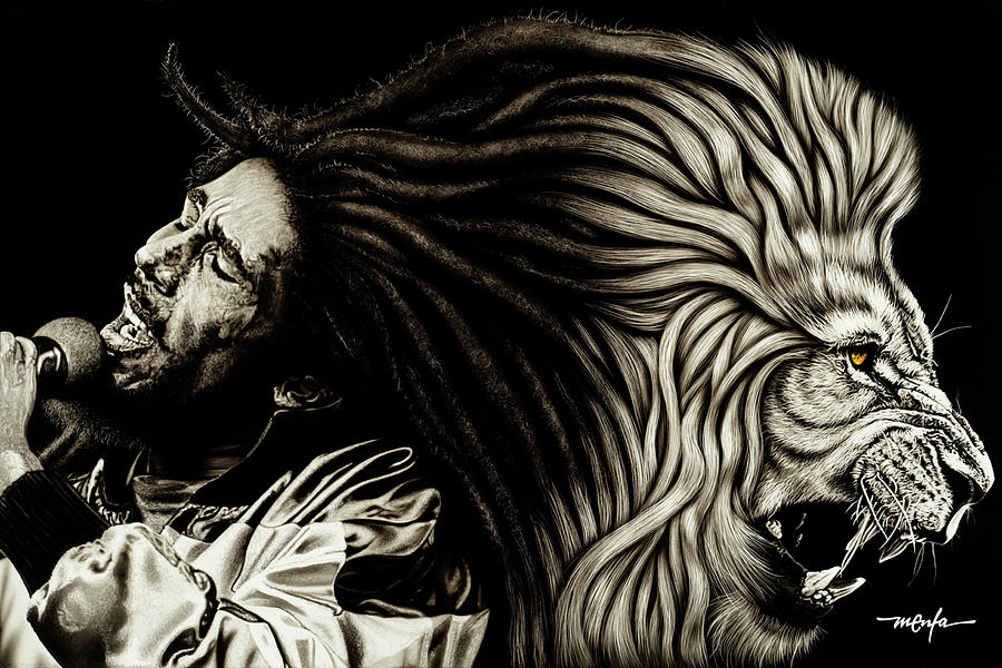 BOB MARLEY - LION HEART by Dan Menta