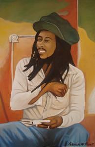 Bob Marley Painting - Bob Marley by Patrick Hunt