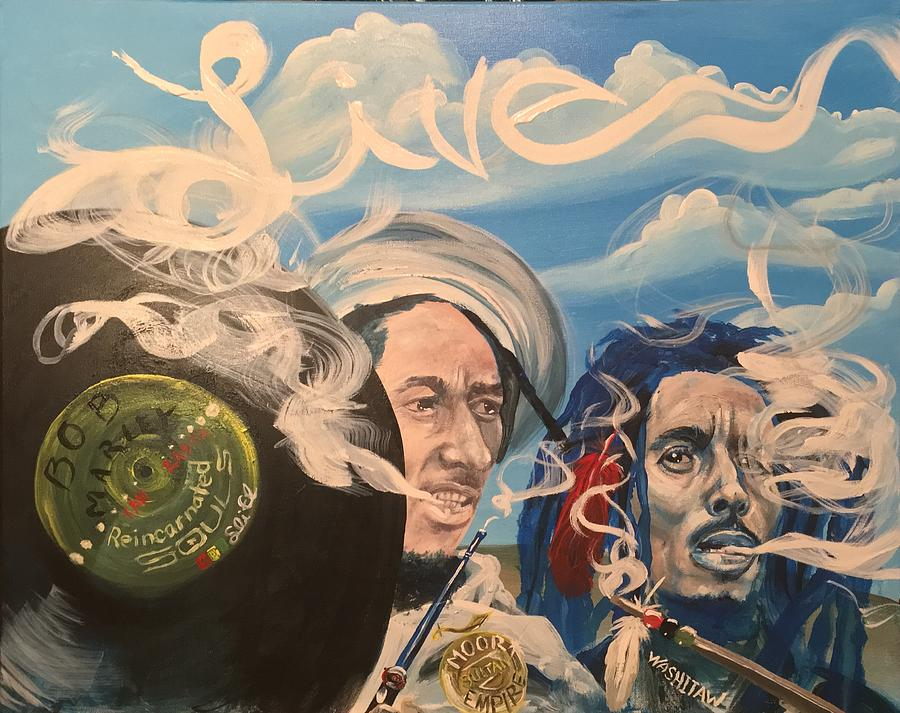 Bob Marley Painting - Bob Marley - Perpetual High by Sean Ivy aka Afro Art Ivy