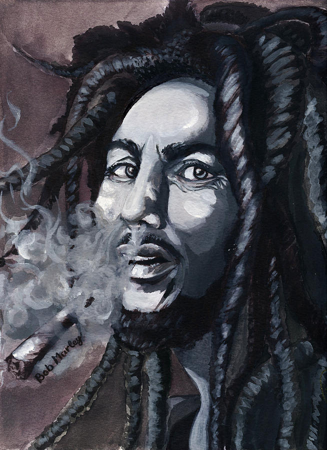 Star Painting - Bob Marley Portrait by Alban Dizdari