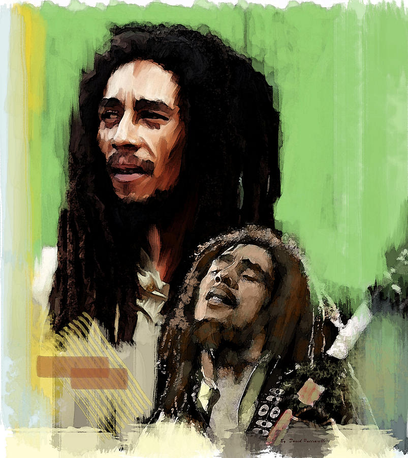 Bob Marley Spiritual Fire by Iconic Images Art Gallery David Pucciarelli