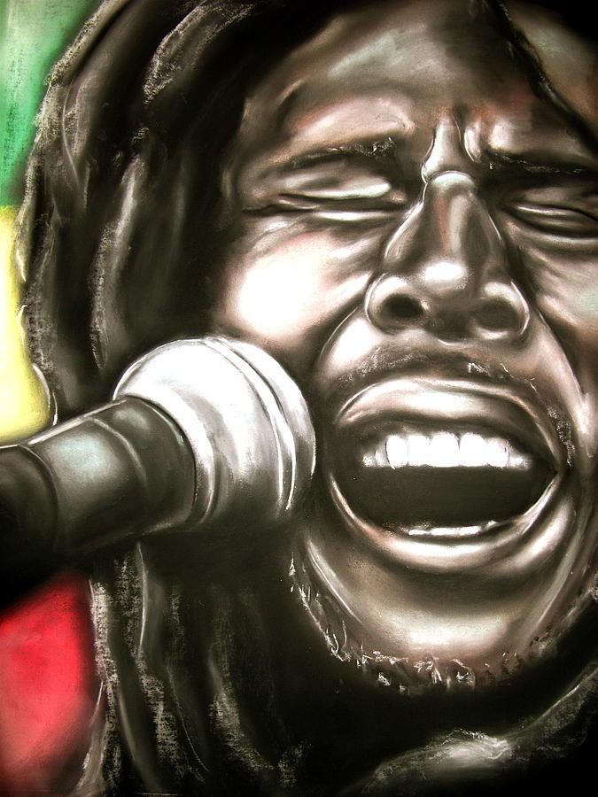 Bob Drawing - Bob Marley by Zach Zwagil