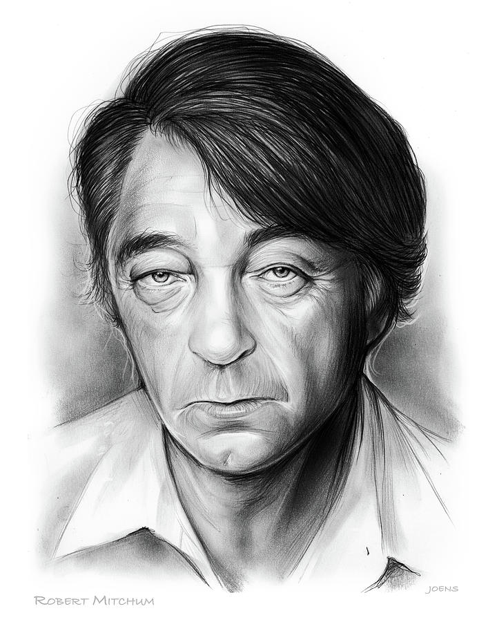 Bob Mitchum Drawing