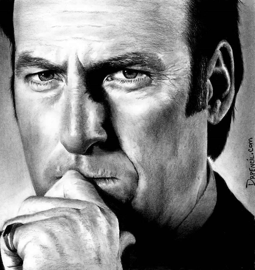 Bob Odenkirk Drawing - Bob Odenkirk as Saul Goodman by Rick Fortson