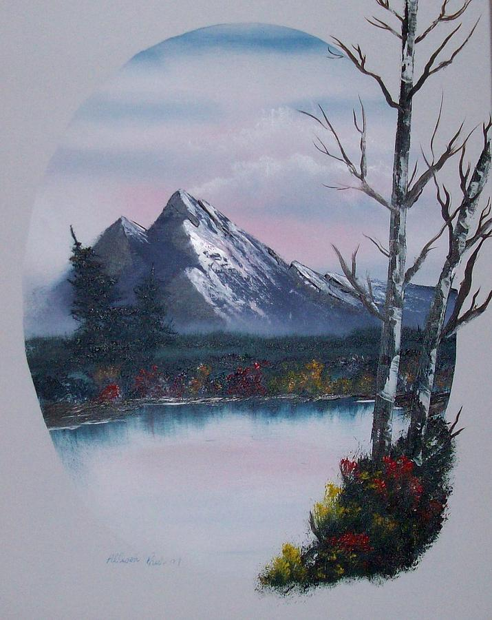 Oil Paintings Painting - Bob Ross Painting by Allison Prior