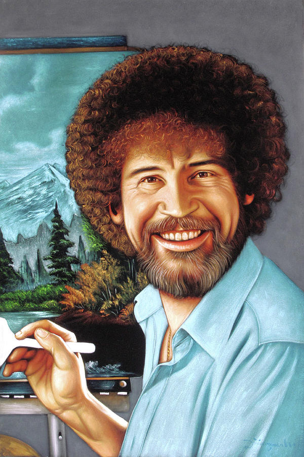 Bob Ross Painting by Zenon Matias Jimenez
