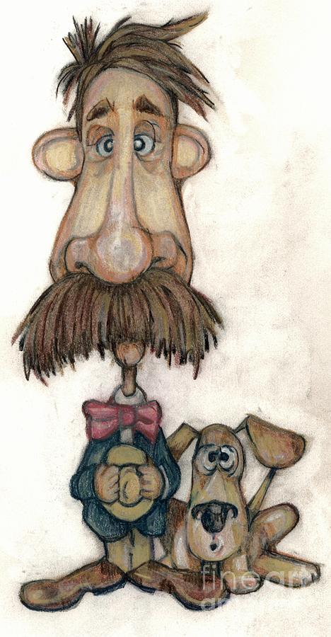 Man Drawing - Bobblehead No 31 by Edward Ruth