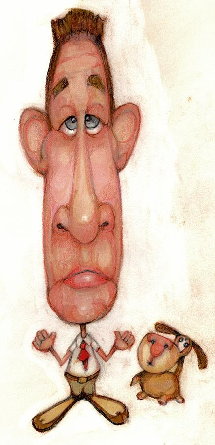 Man Drawing - Bobblehead No 48 by Edward Ruth