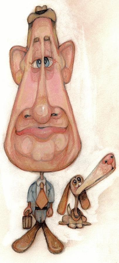 Man Drawing - Bobblehead No 52 by Edward Ruth
