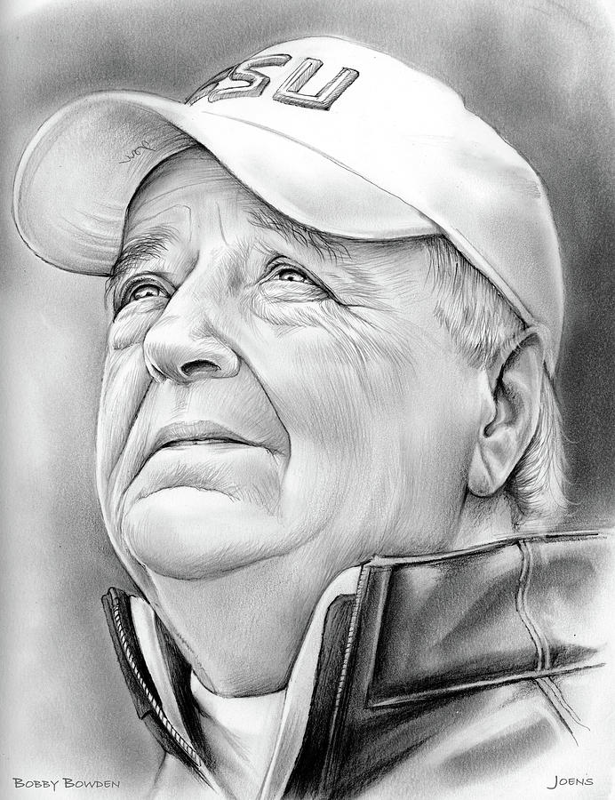 Bobby Bowden Drawing
