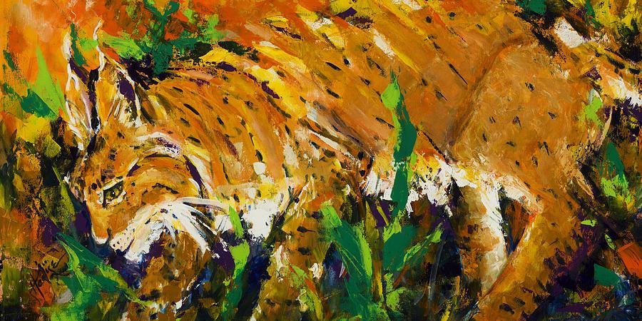 Bobcat Painting - Bobcat by Mary DuCharme