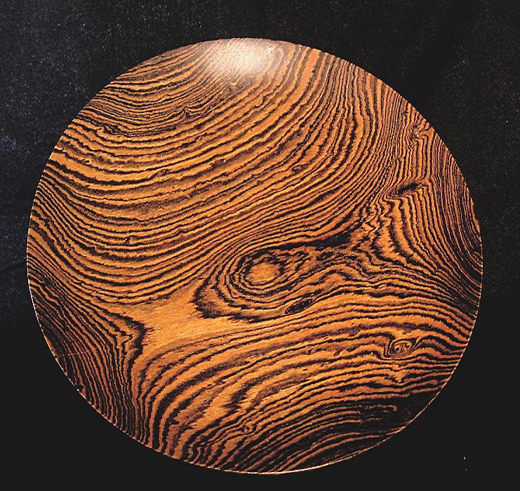 Turnings Sculpture - Bocote Platter by Chuck Turigliatto