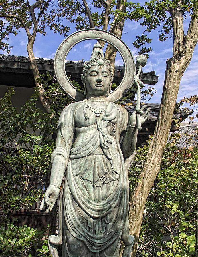 Buddhist Photograph - Boddhisattva Buddhist Deity - Kyoto Japan by Daniel Hagerman