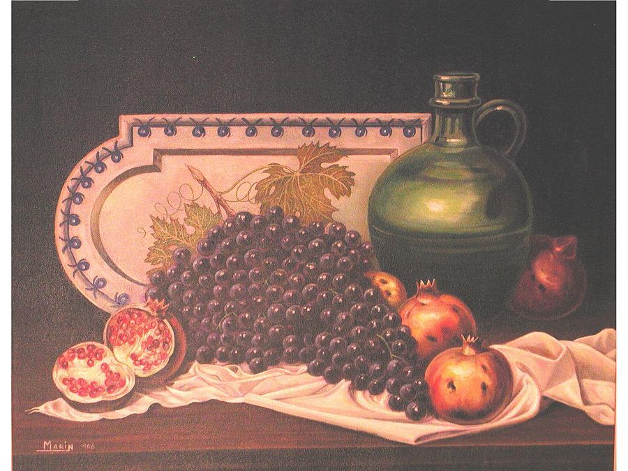 Bodegon De Granadas Painting by Rafael Marin