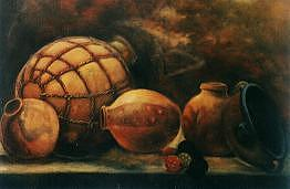 Bodegon Painting - Bodegon Guajiro by Julio  Ariza Urbina