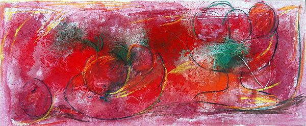 Bodegpn Rojo Painting by Soledad Fernandez