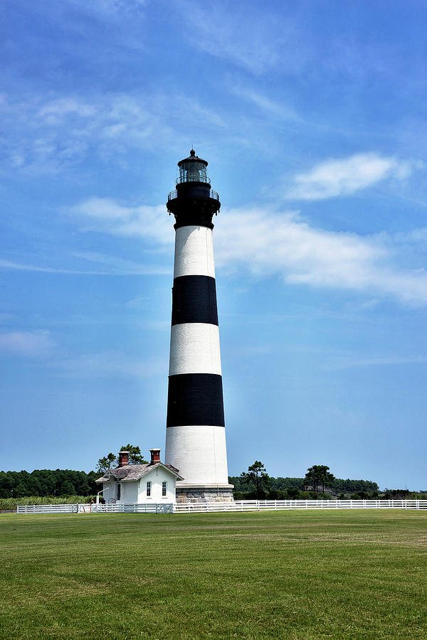 Bodie Island Lighthouse Photograph - Bodie Island Lighthouse - Cape Hatteras National Seashore by Brendan Reals