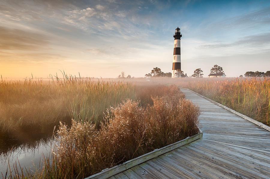 Lighthouse Photograph - Bodie Island Lighthouse Cape Hatteras National Seashore North Carolina by Mark VanDyke