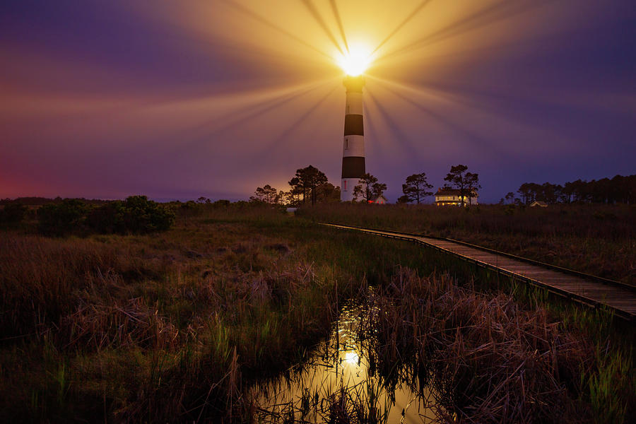 Bodie Island Lighthouse  by Dennis Sprinkle