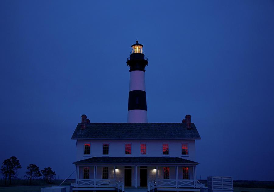 Lighthouse Photograph - Bodie Island Lighthouse by Mark Wagoner