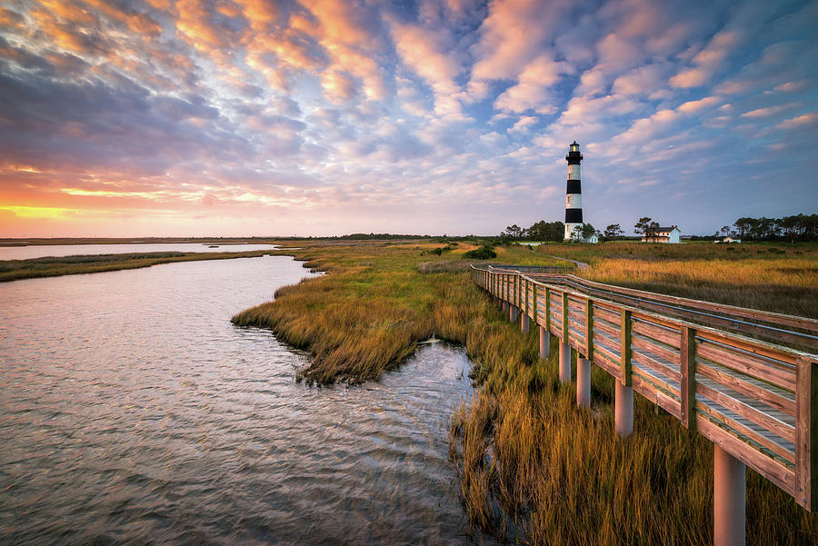 Bodie Island Lighthouse Outer Banks North Carolina Obx Nc Photograph
