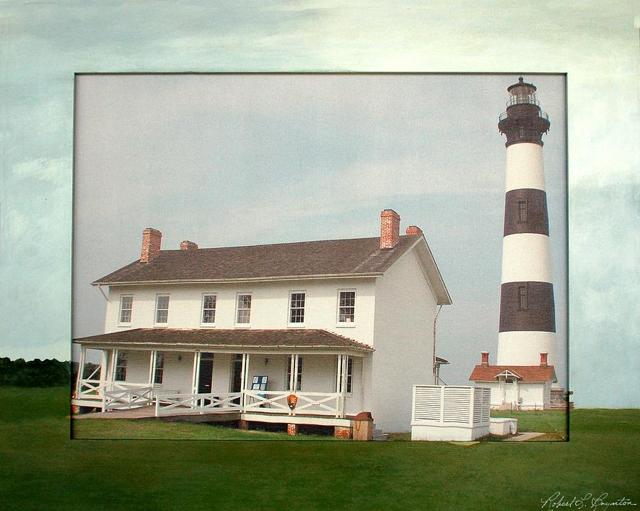 Bodie Island Mixed Media - Bodie Island Lighthouse by Robert Boynton