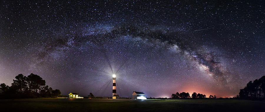 Bodie Island Lighthouse under the Milky Way by Tommy White
