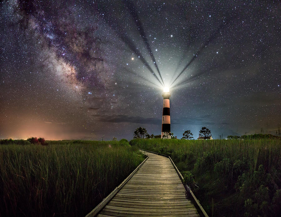 Bodie Lighthouse Milky Way Photograph By Jason Frye