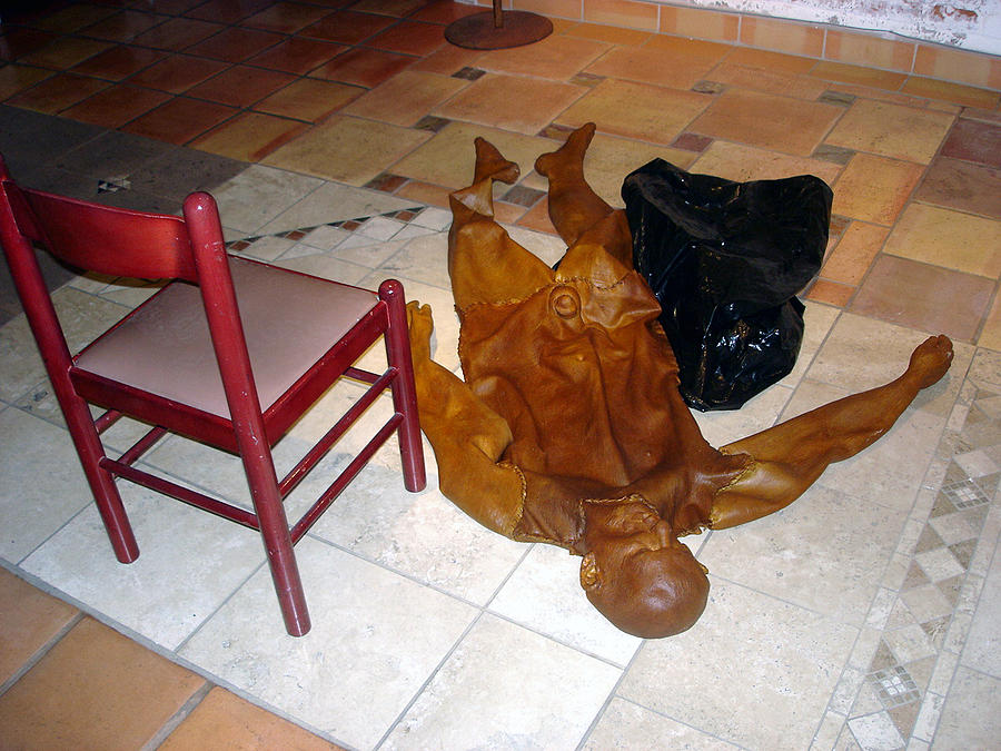 Figurative Mixed Media - Body Bag And Chair by Marc David Leviton