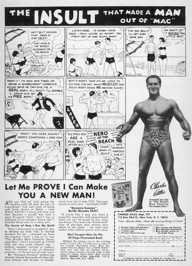1962 Photograph - Body-building Ad, 1962 by Granger