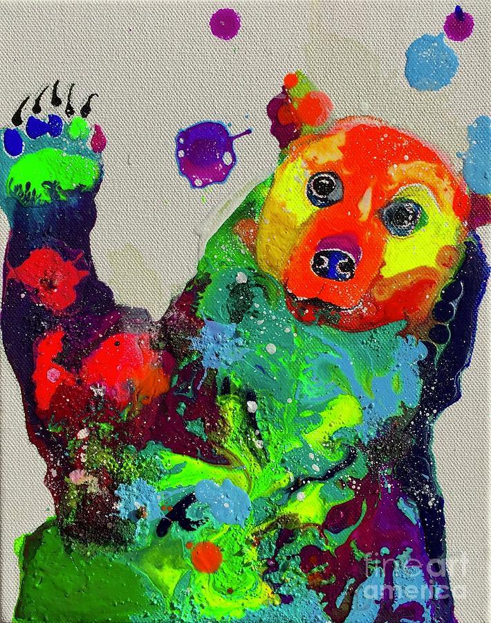 Bear Cub Painting - Body  by Kasha Ritter