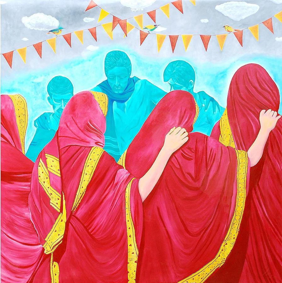 Humen Painting - Body Language Of A Festival by Gayatri Artist