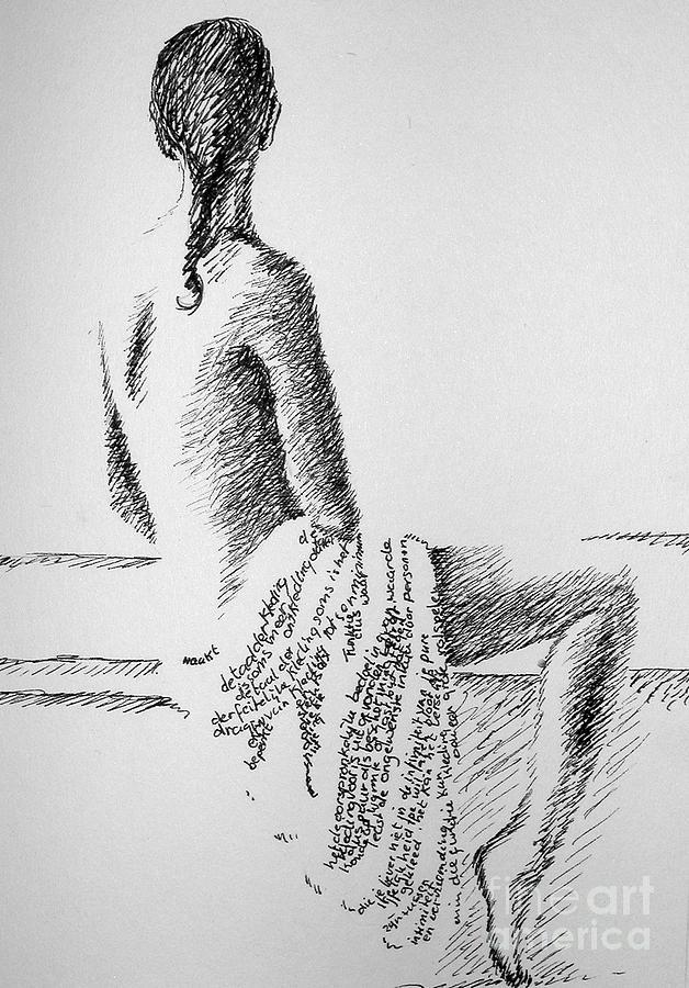 Language Drawing - Body Language by Tanni Koens