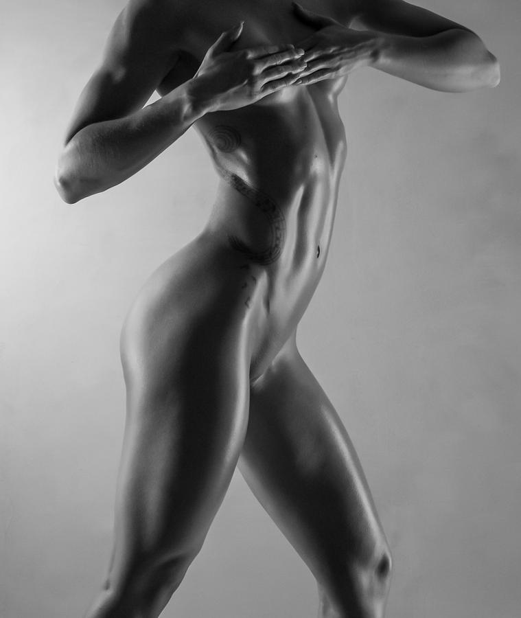 Monochromatic Photograph - Body Of Art 6 by Blue Muse Fine Art
