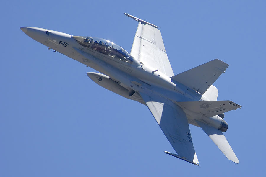 Airplane Photograph - Boeing-mcdonnell-douglas Fa-18f Super Hornet 446 Of Vfa-125 Rough Raiders  by Brian Lockett