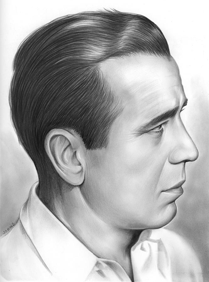 Bogart Drawing - Bogart by Greg Joens
