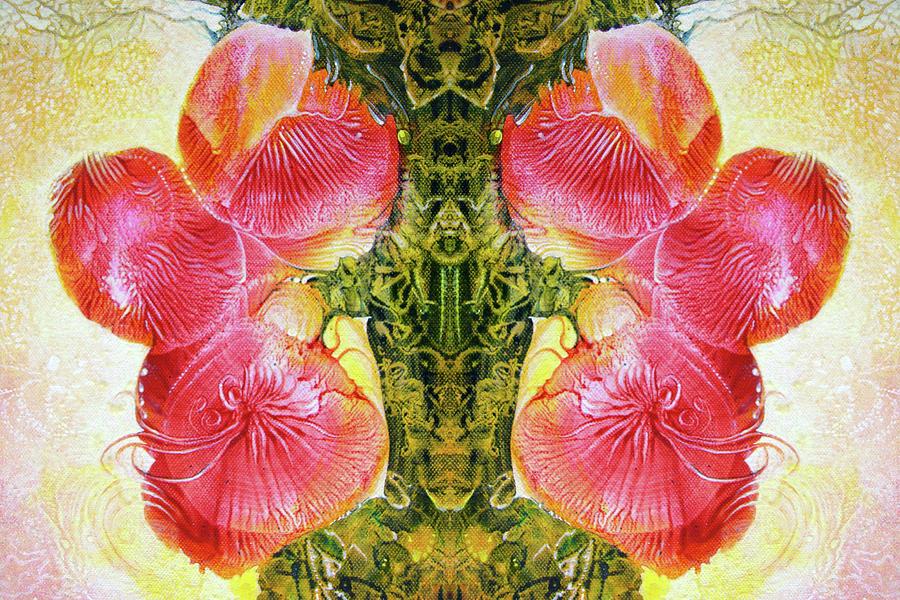 Acrylics Digital Art - Bogomil Anniversary Flower - Digital by Otto Rapp
