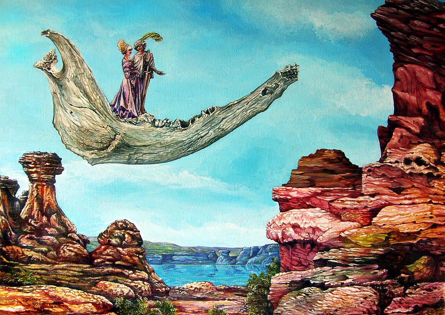 Surrealism Painting - Bogomils Journey by Otto Rapp