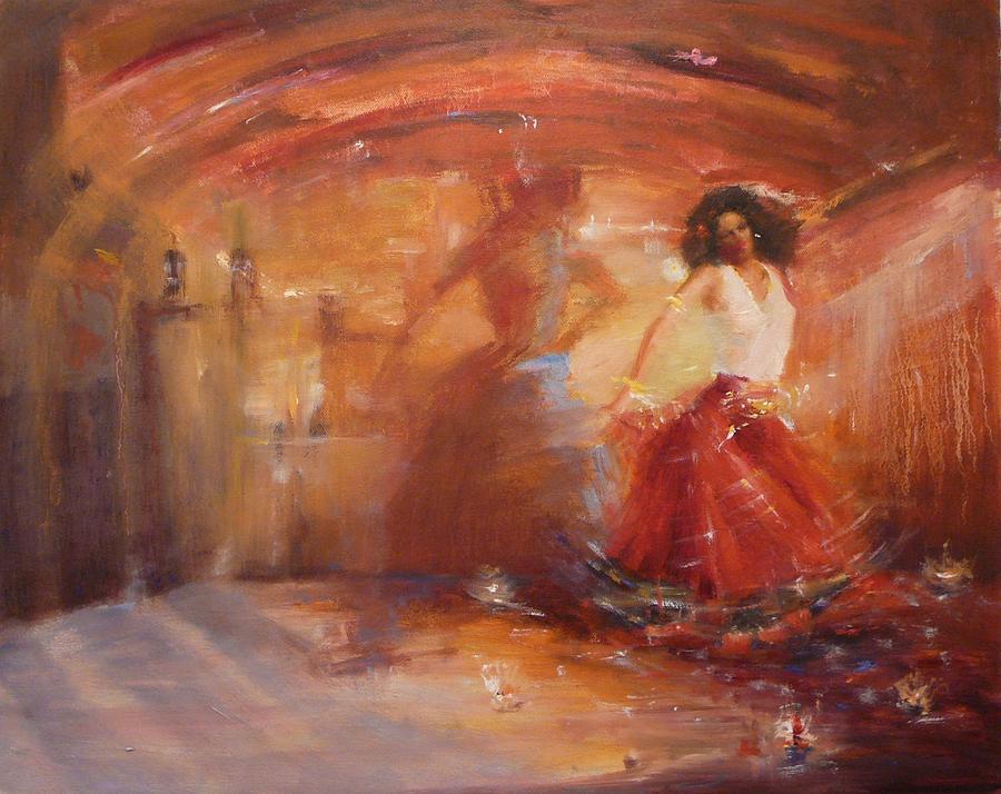 Dance Painting - SOLD Bohemian by Irena  Jablonski