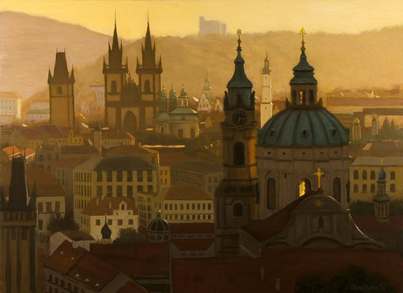 Prague Painting - Bohemian Light by Murad Sayen