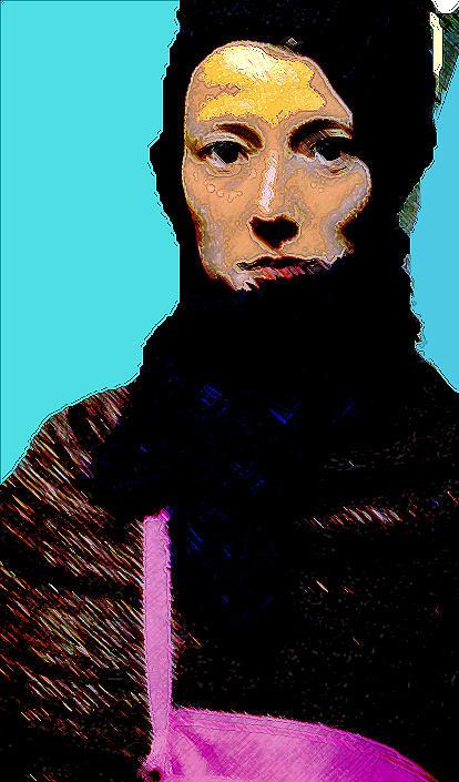 Portrait Mixed Media - Bohemian by Noredin Morgan