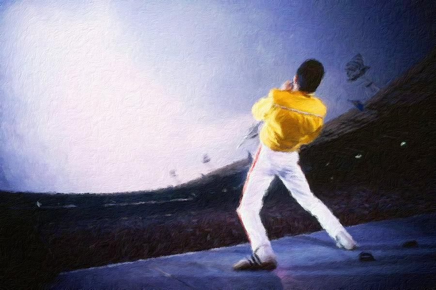 Freddie Mercury Painting - Bohemian Rhapsody by Vincent Monozlay