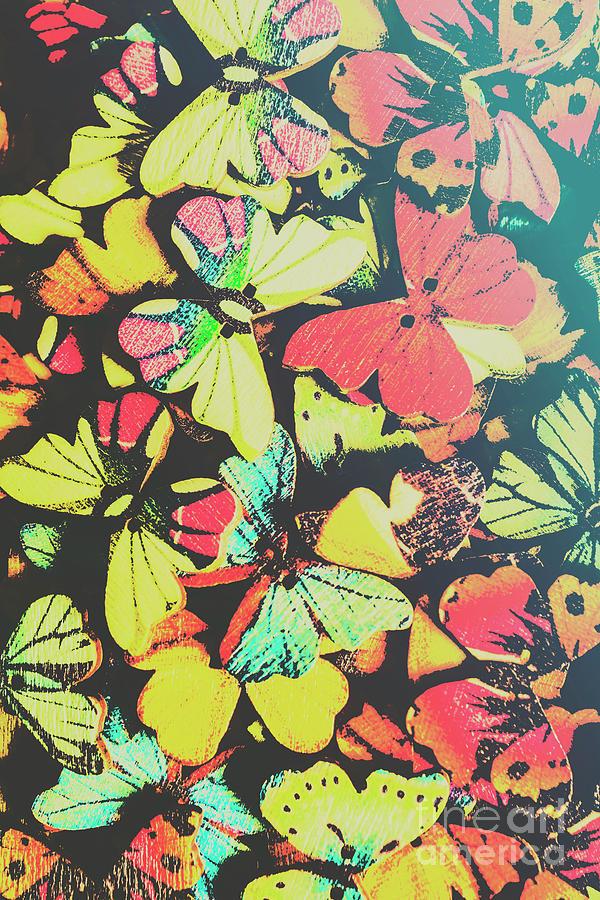 Boho Button Butterflies Photograph