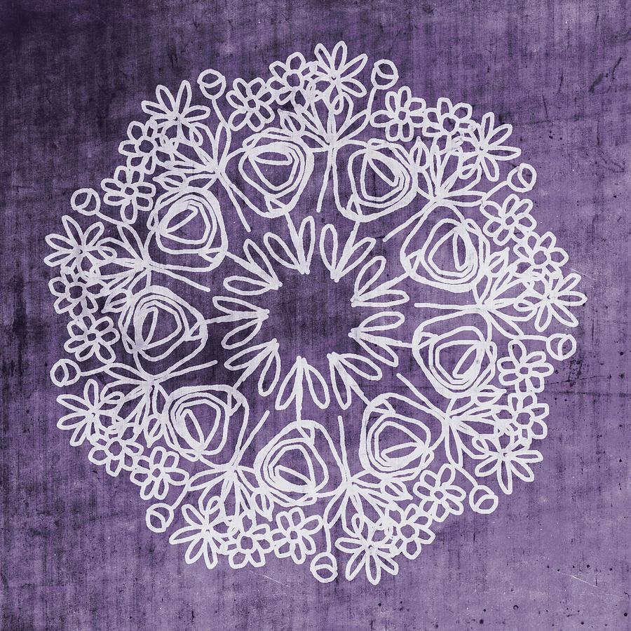 Boho Mixed Media - Boho Floral Mandala 2- Art By Linda Woods by Linda Woods