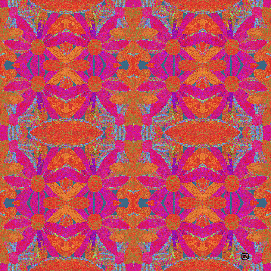 Boho Hippie Garden - pink by Lisa Weedn