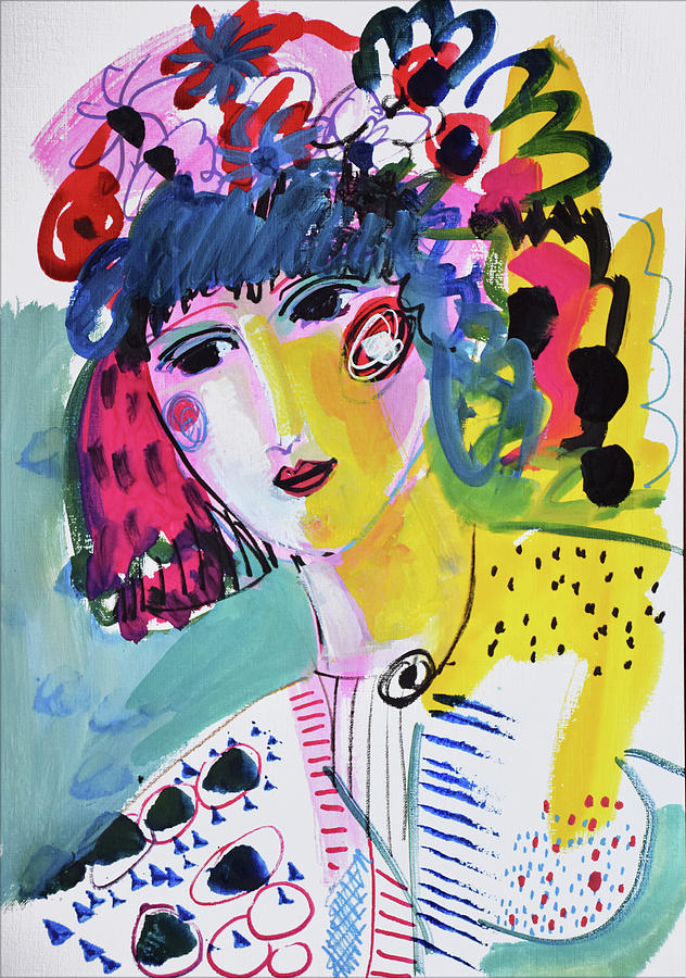 Portrait Painting - Boho Party by Amara Dacer