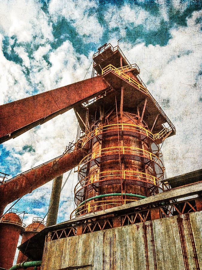 Boiler Photograph - Boiler At Sloss Furnaces by Phillip Burrow