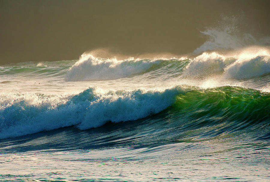Boiler Bay Waves Rolling Photograph