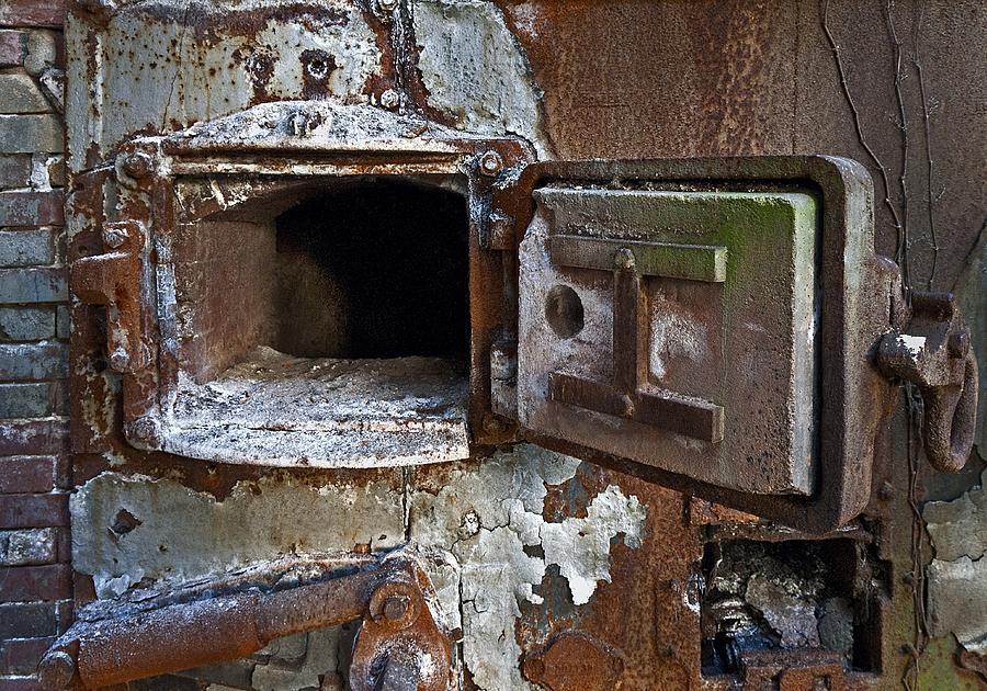 Boiler Photograph - Boiler Door by Murray Bloom