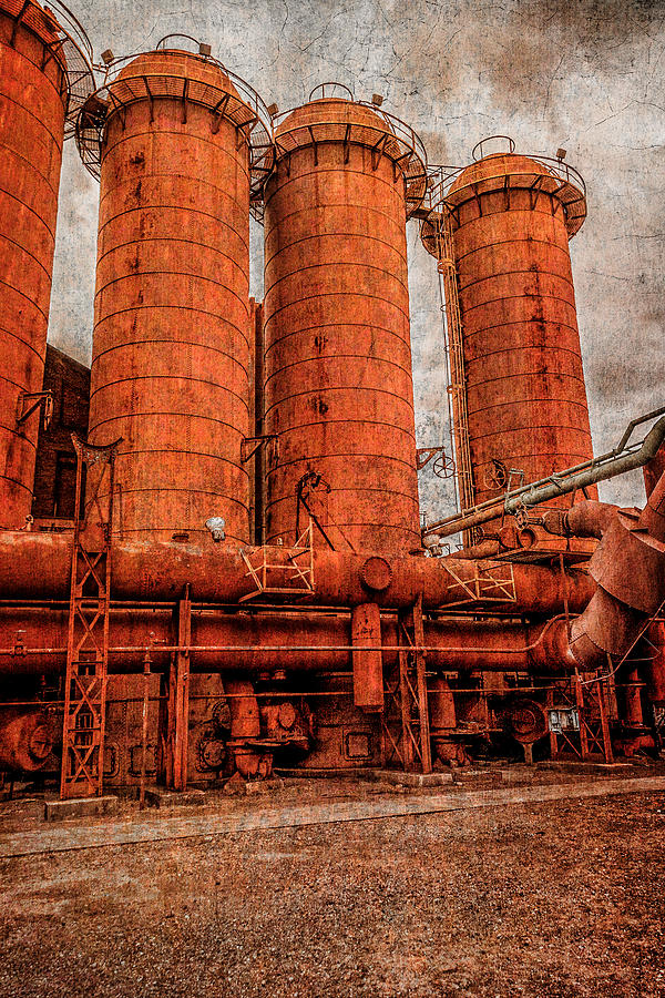 Boiler Photograph - boilers at Sloss by Phillip Burrow